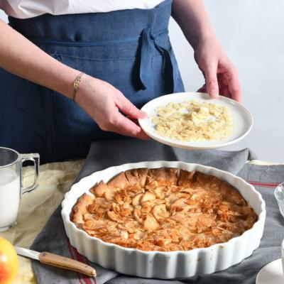 Tarte aux pommes caramélisée au miel
